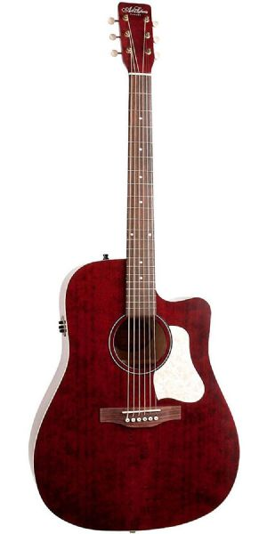 Art & Lutherie Americana Cutaway Electro Acoustic Guitar, Red - 42449